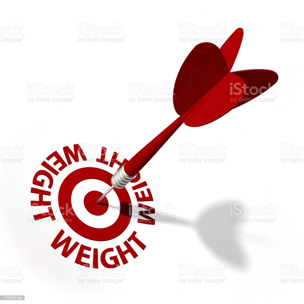 Weight Target royalty-free stock photo