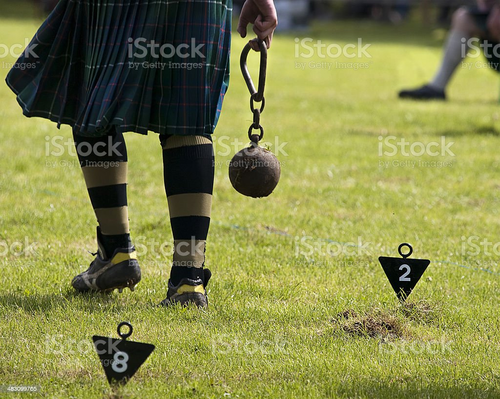Weight Throw - Highland Games stock photo