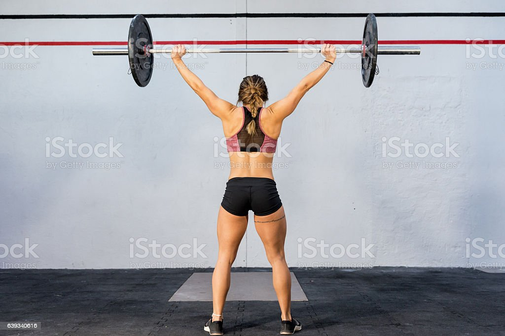 Weight training at gym ! stock photo