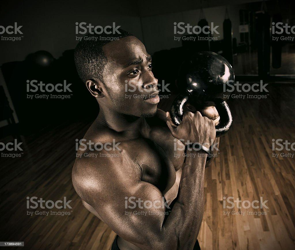 weight training closeup royalty-free stock photo