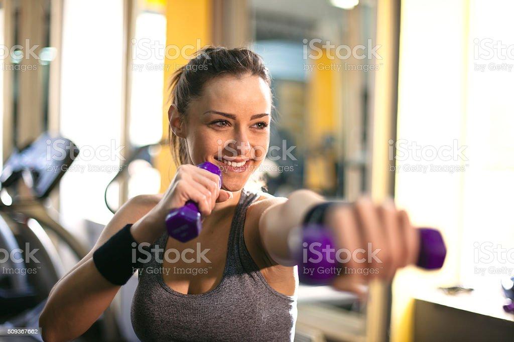 Weight Training for Women stock photo
