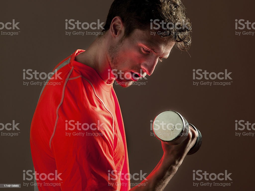 Weight Training royalty-free stock photo