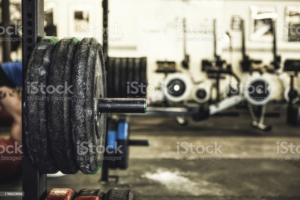 weight training stock photo