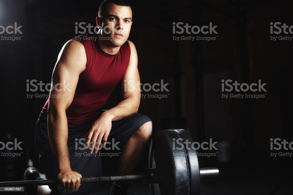 Weight training whizz royalty-free stock photo