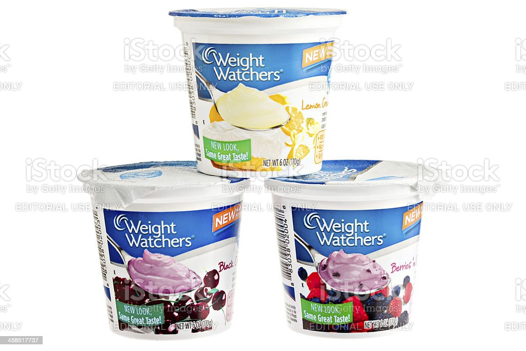Weight Watchers Yogurt royalty-free stock photo