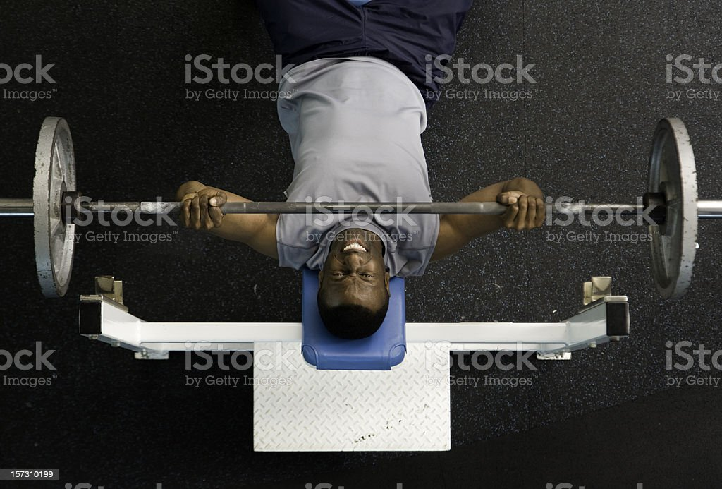 Weightlifter on Benchpress royalty-free stock photo