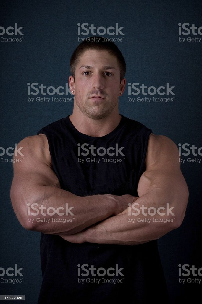 Weightlifter stock photo