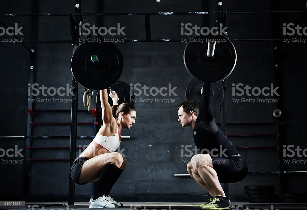 Weightlifting champions stock photo