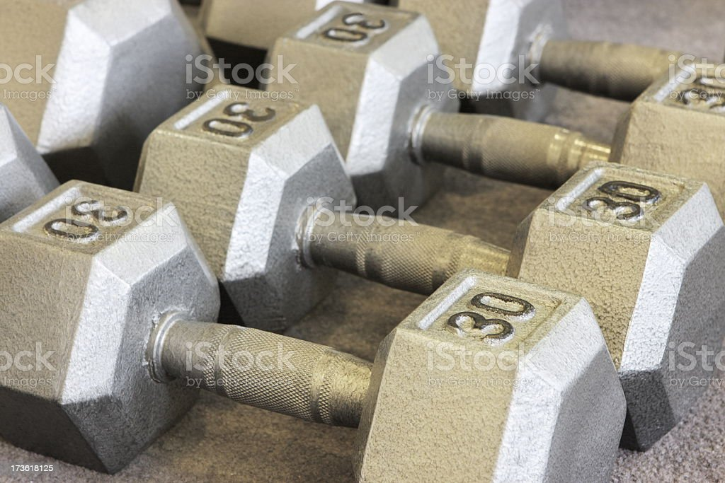 Weightlifting Dumbbells Fitness Athlete Training royalty-free stock photo