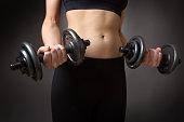 weightlifting dumbells