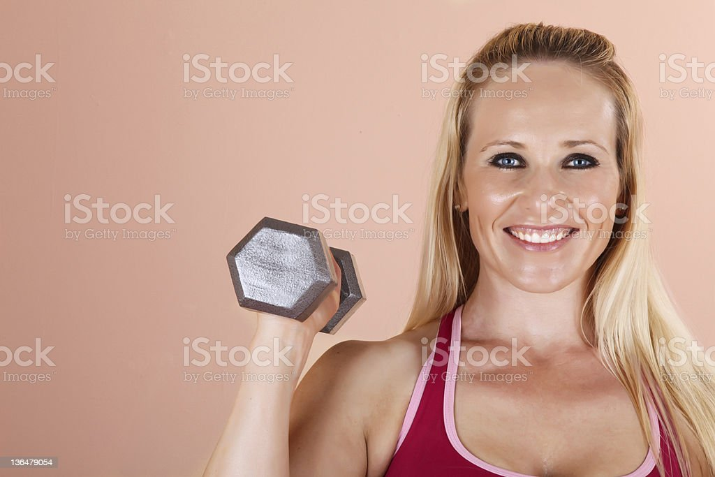 Weightlifting Girl royalty-free stock photo