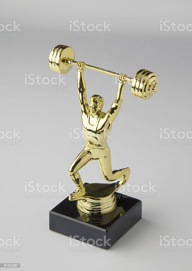 Тяжёлая атлетика приз Стоковые фото Стоковая фотография