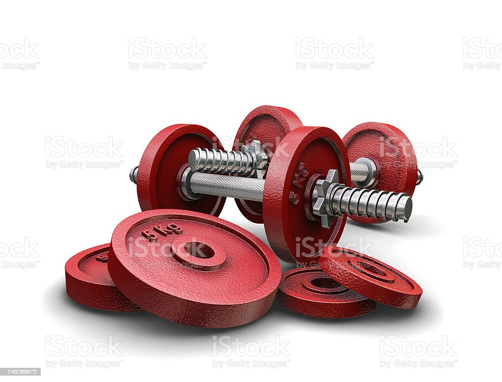 Weightlifting weights royalty-free stock vector art