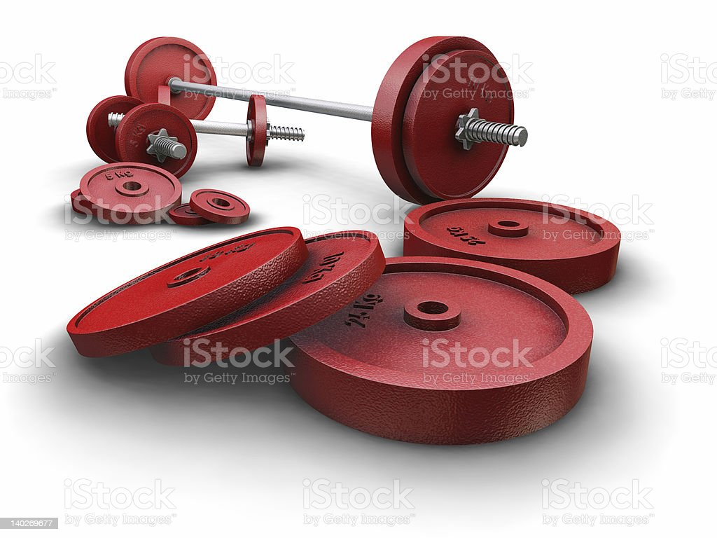 Weightlifting weights royalty-free stock photo