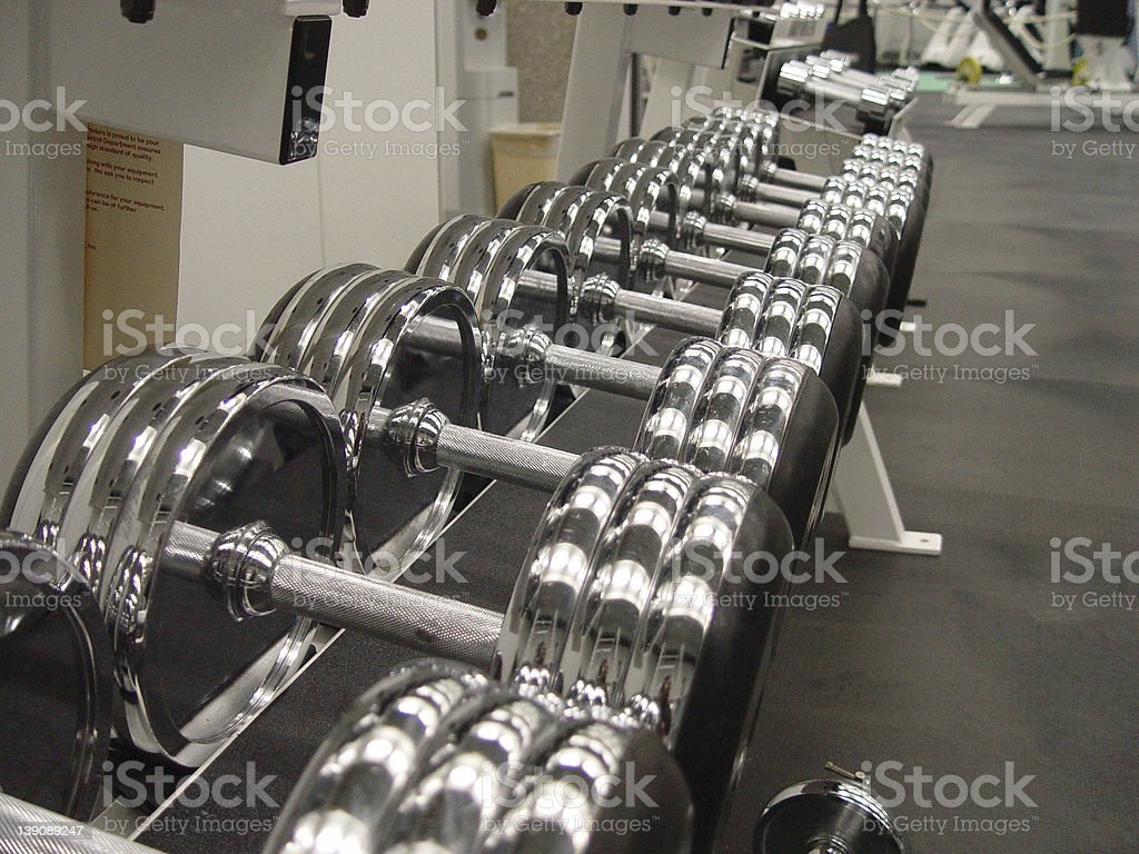 Weights 2 stock photo