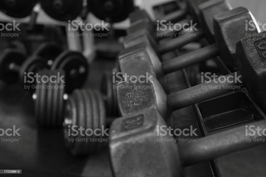 Weights and Dumbells royalty-free stock photo