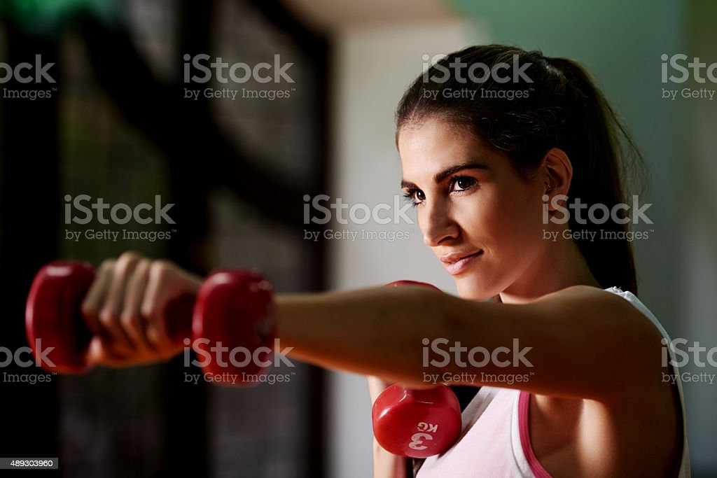 Weights before dates stock photo