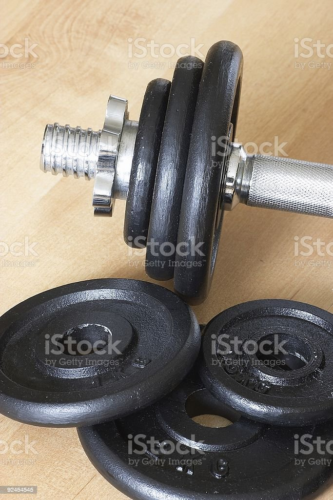 weights & dumbell part 2 stock photo