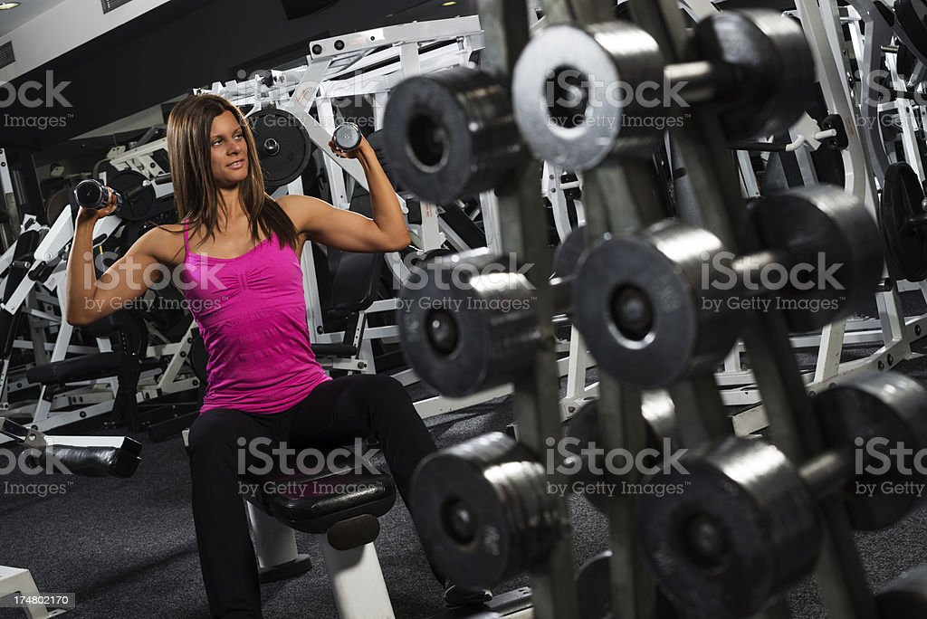 Weights exercise royalty-free stock photo