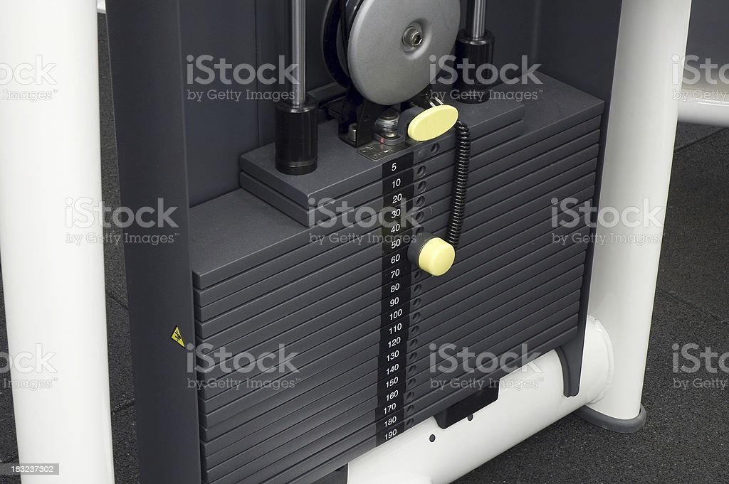 Weights on Workout Equipment royalty-free stock photo