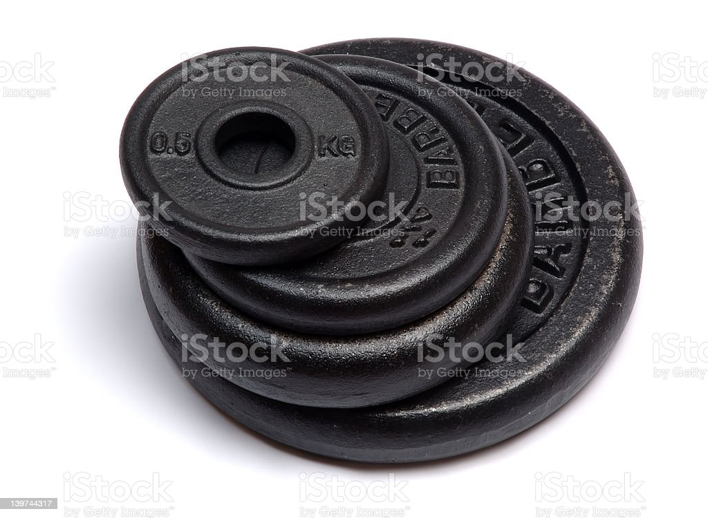 Weights royalty-free stock photo