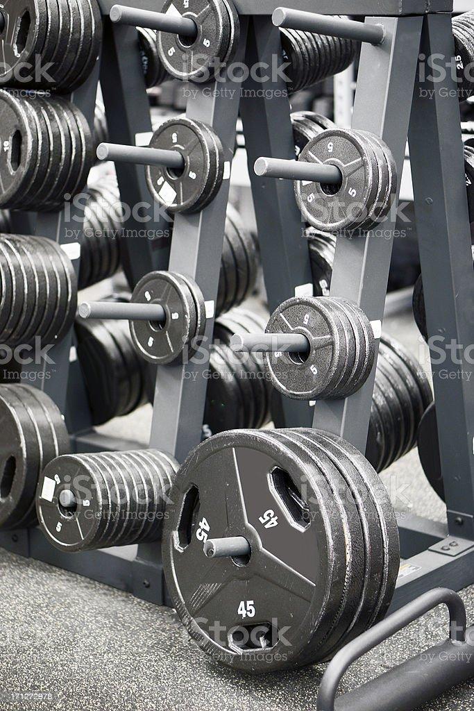 Weights stock photo