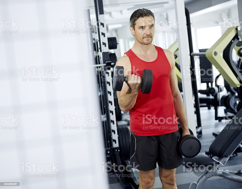 Weight-training is my game royalty-free stock photo