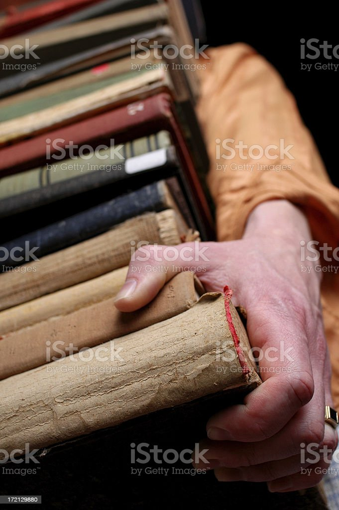 Weighty Books royalty-free stock photo