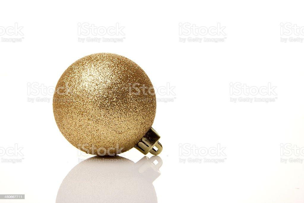Weihnachten, Weihnachtskugel gold royalty-free stock photo