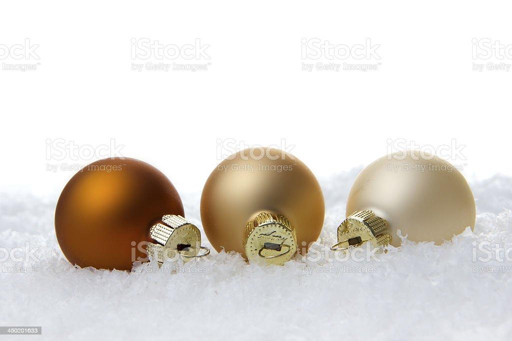 Weihnachten, Weihnachtskugeln braun, creme, beige royalty-free stock photo