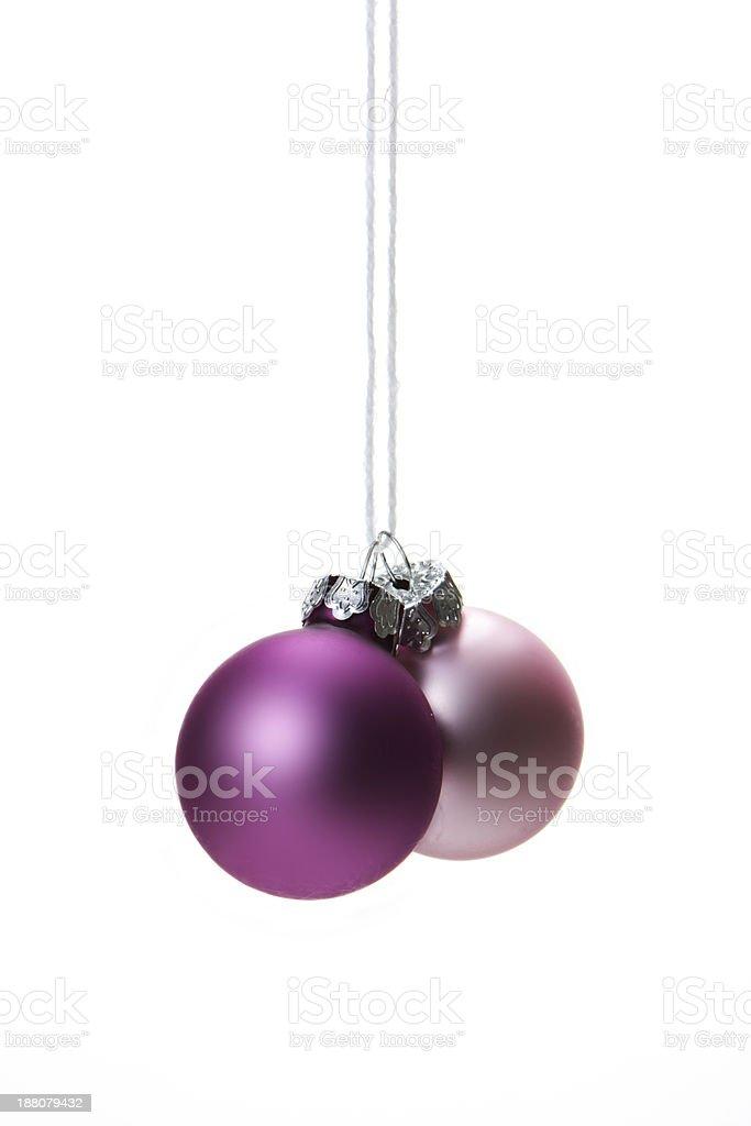 Weihnachten, Weihnachtskugeln rosa royalty-free stock photo