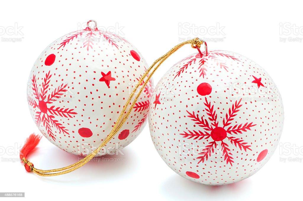 Weihnachtliche Christbaumkugeln stock photo