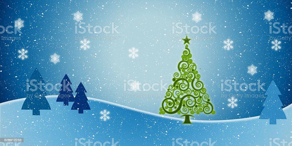 Weihnachtliche Winterlandschaft / Grafik stock photo