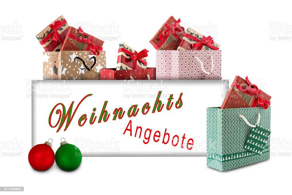 Weihnachts Angebot stock photo