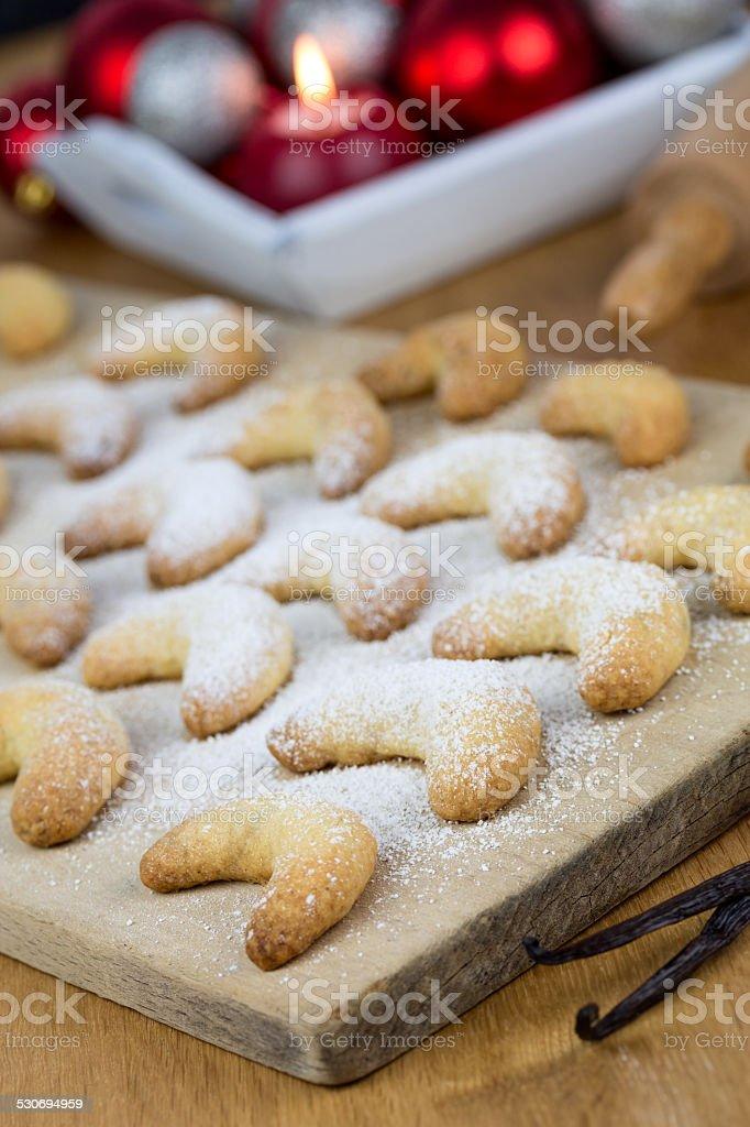 Weihnachtsbäckerei stock photo