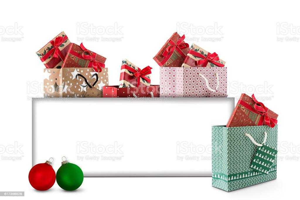 Weihnachtsgeschenke kaufen stock photo