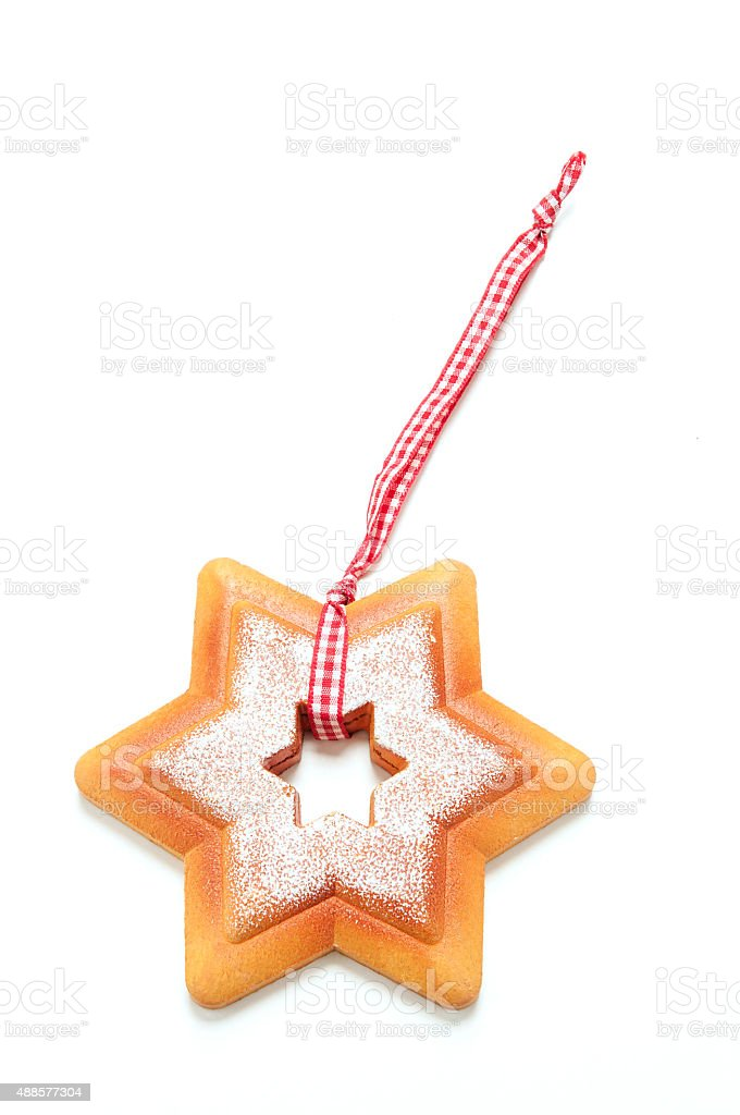Weihnachtskeks Stern stock photo