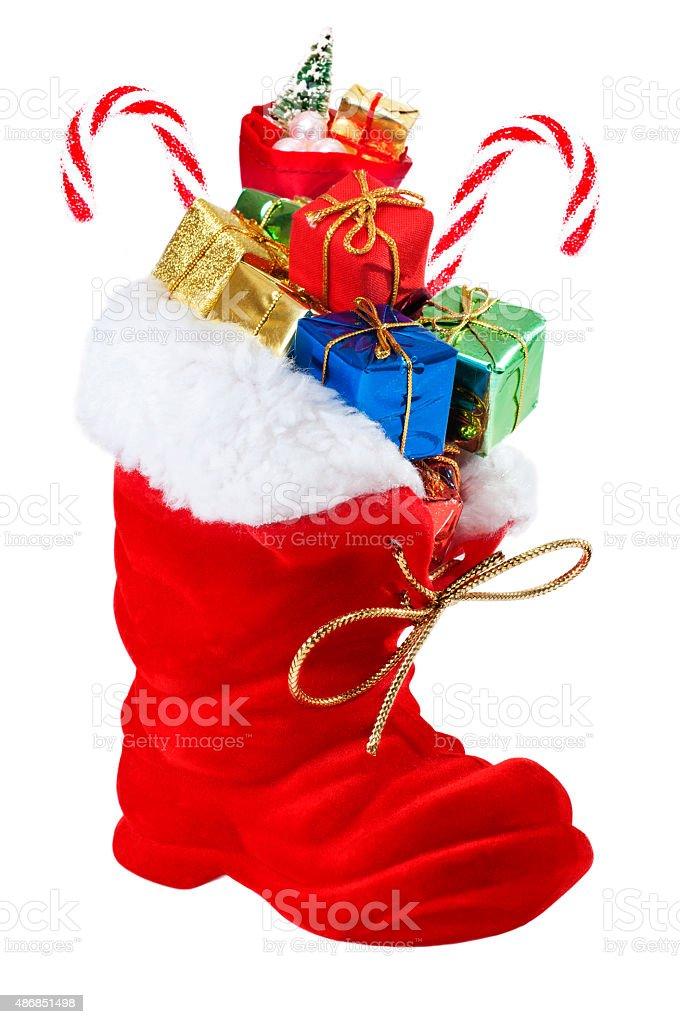 Weihnachtsschuh stock photo