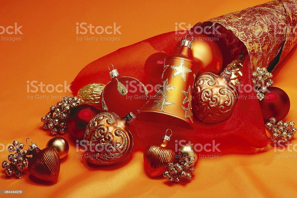 Weihnachtst?te in rot-orange Farben stock photo