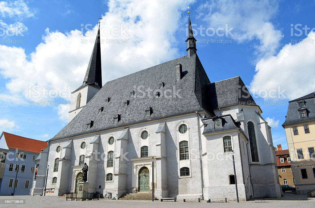 Weimar, Germany / Church of St. Peter and St. Paul stock photo