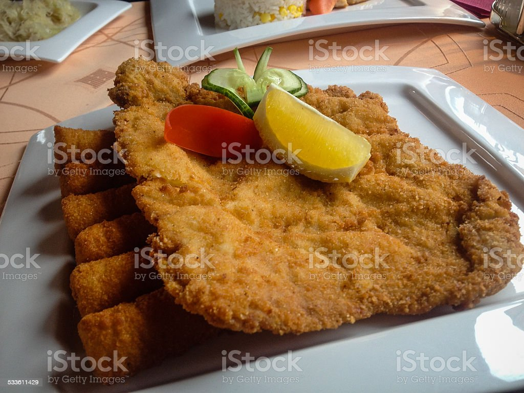 Weiner Schnitzel stock photo
