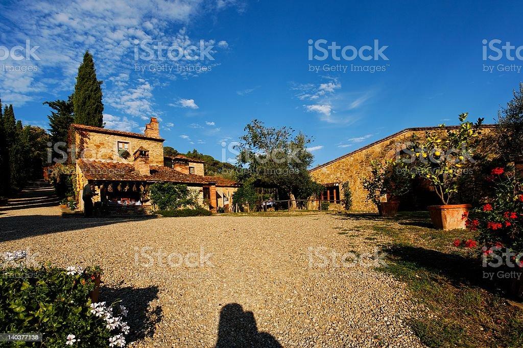 Weingut in der Toskana stock photo