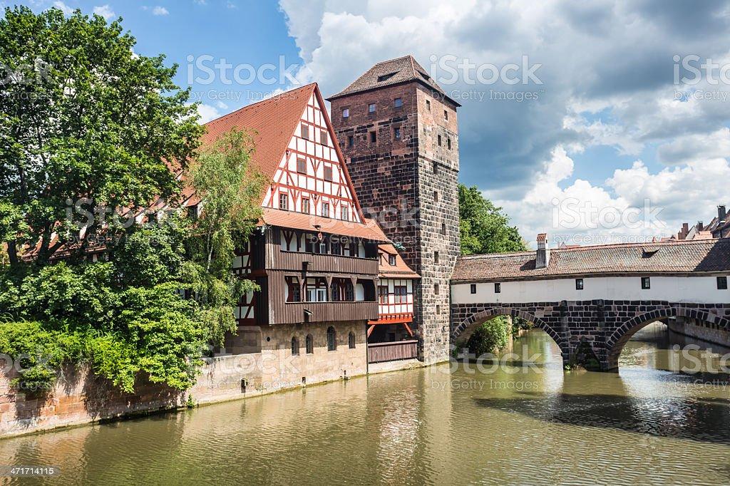 Weinstadl und Henkersteg Nürnberg stock photo