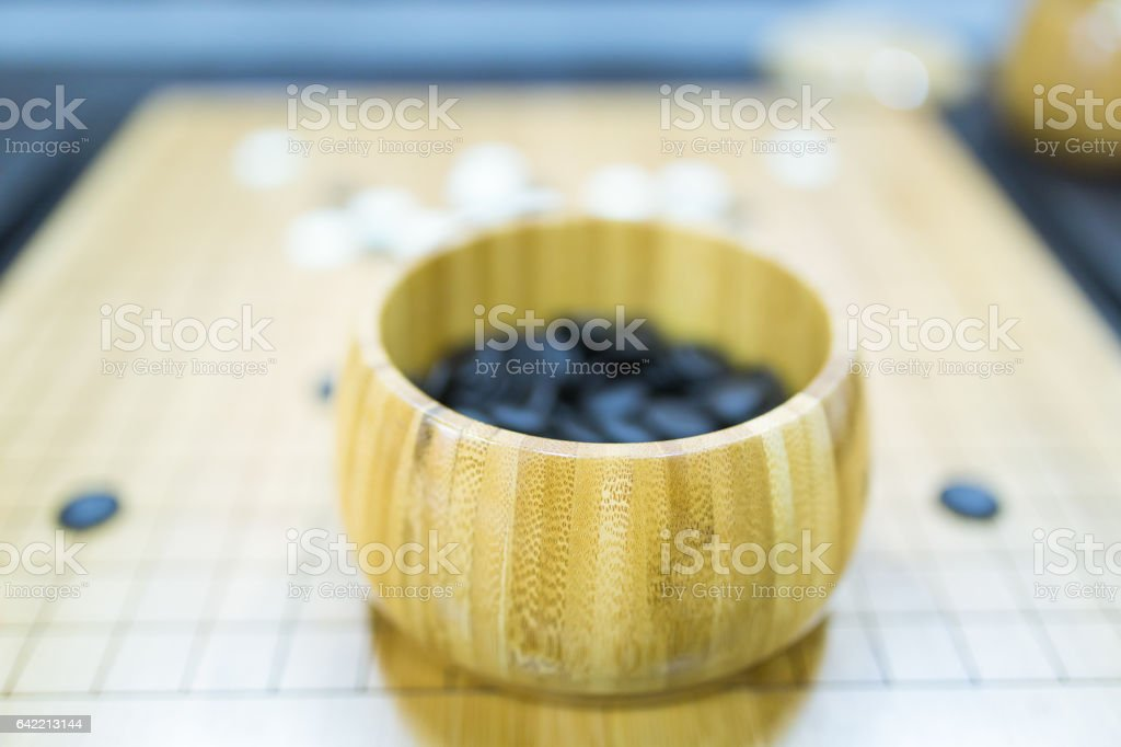 weiqi on board stock photo