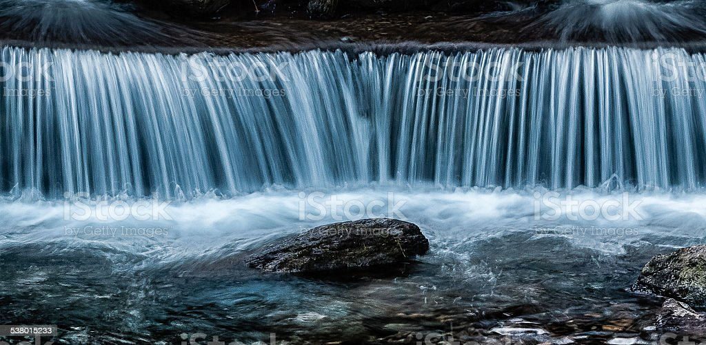 Weir at Lynmouth stock photo