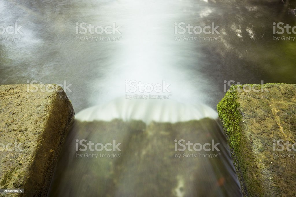 Weir Drainage stock photo