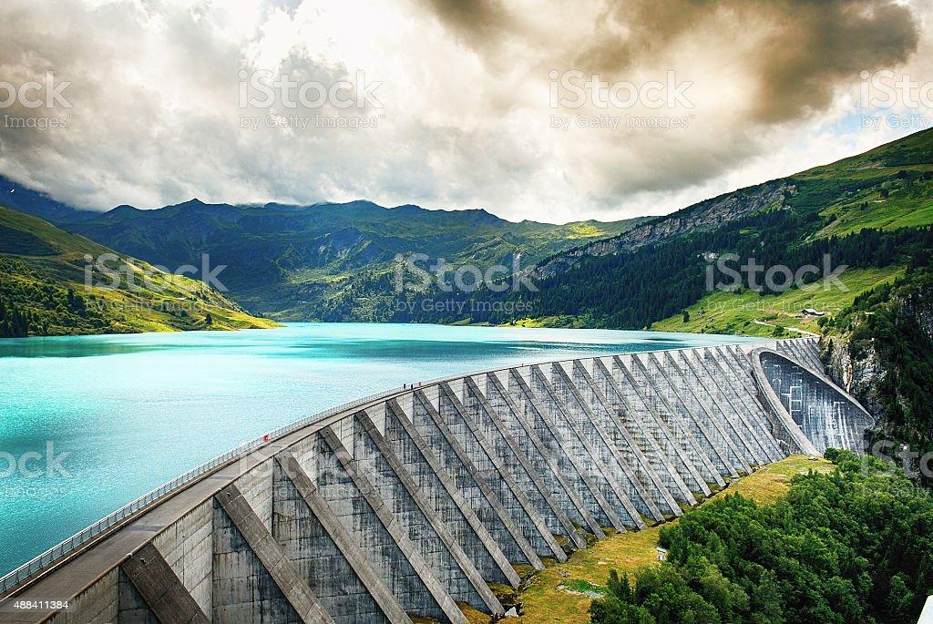 Weir of Roselend stock photo