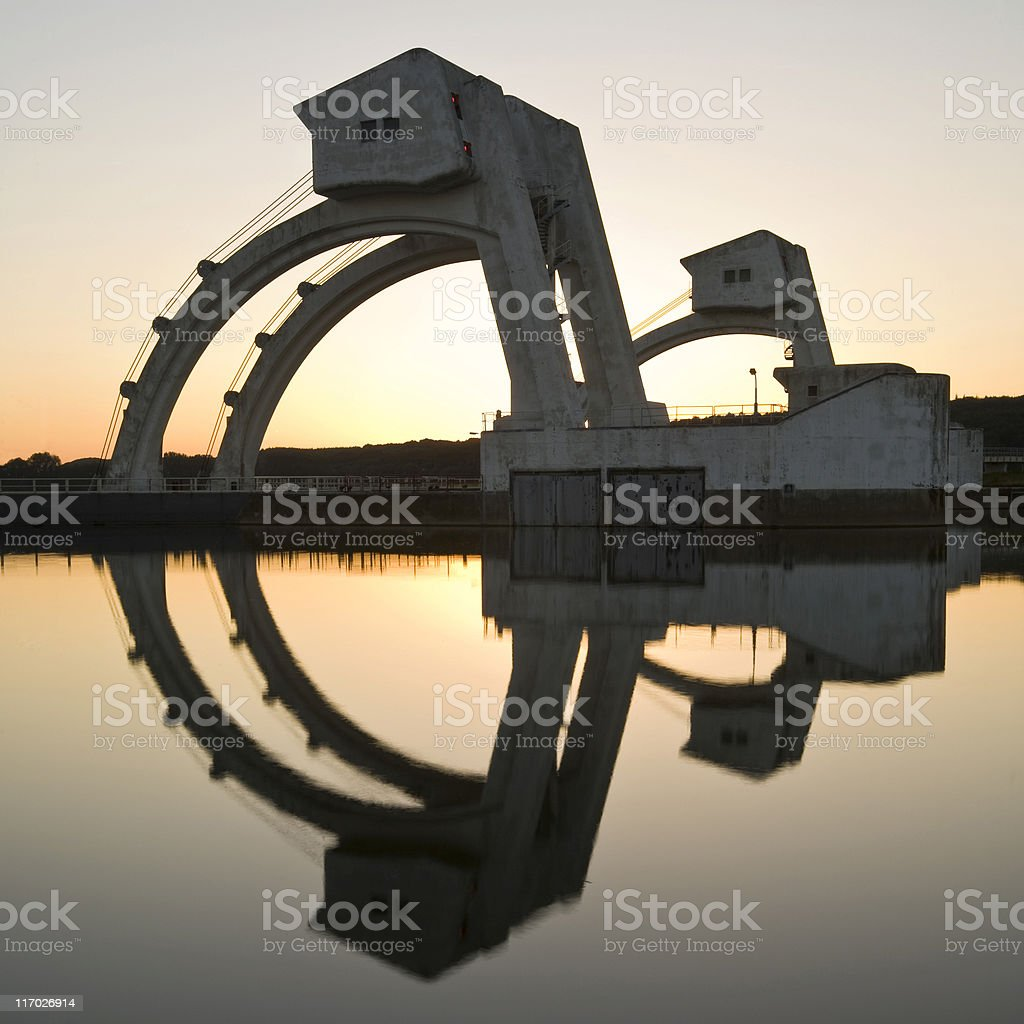 Weir portals at sunset royalty-free stock photo