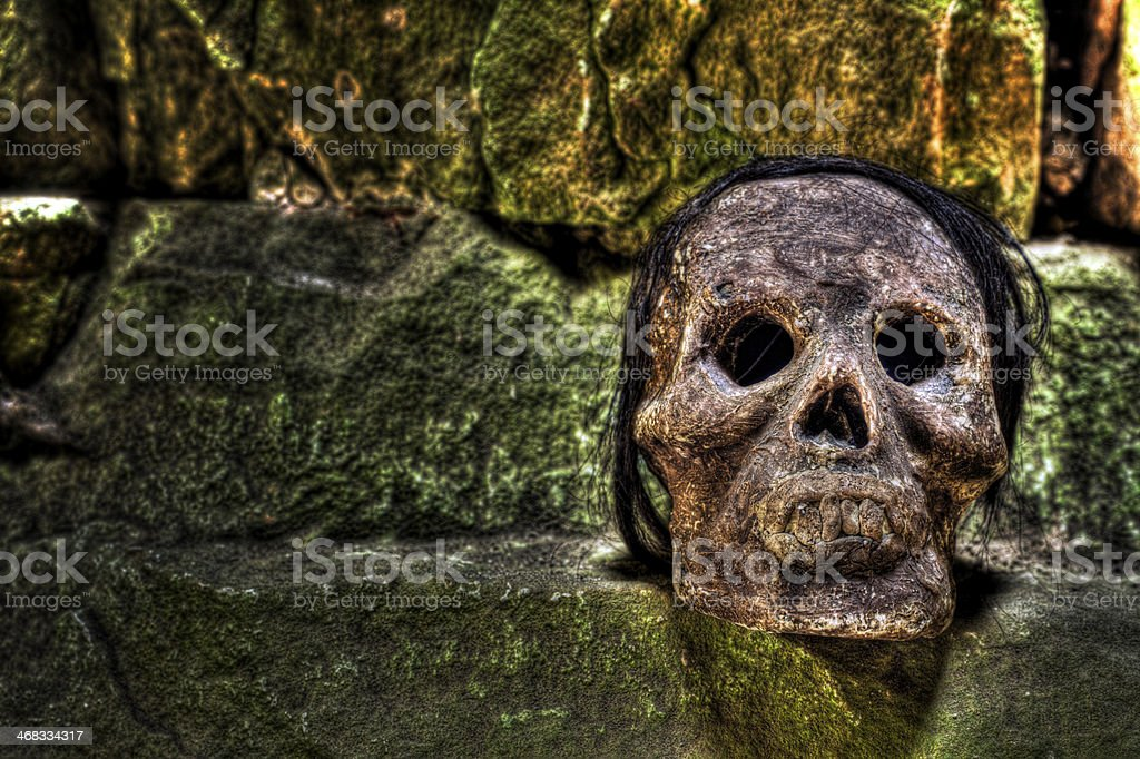 Weird Inca Skull Artifact royalty-free stock photo