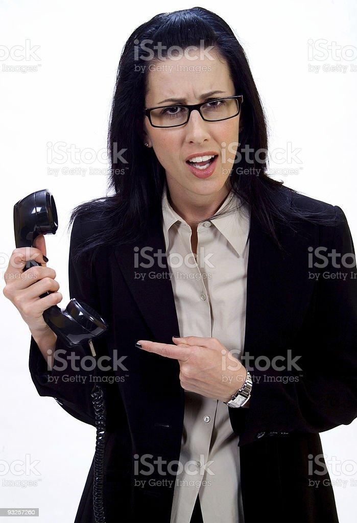 Weird Phone Call royalty-free stock photo